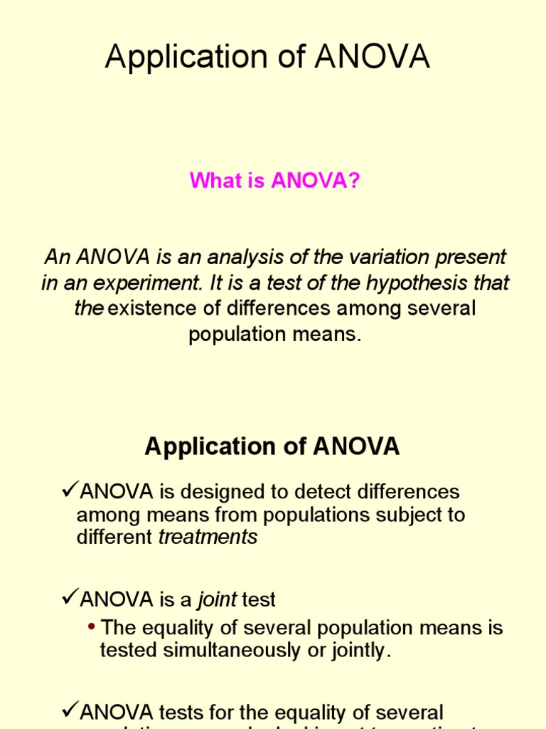 Application+of+ANOVA | Analysis Of Variance | Degrees Of Freedom  (Statistics)