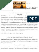 Satsang Notes 6-15-16
