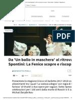 Da 'Un Ballo in Maschera' Al Ritrovato ...Tro_Danza - Spettacoli - Repubblica