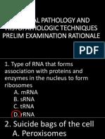 Prelim Lecture Exam Rationale