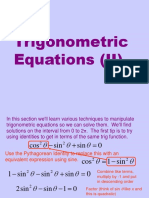 Trigonometric Equations II