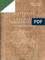 Materiale Cercetari Arheologice XIV 1980