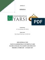 Cover Referat Tinitus
