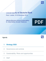 Sustainability at Deutsche Bank