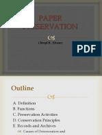 Paper Preservation Samar