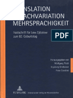 Translation, Sprachvariation, Mehrsprachigkeit
