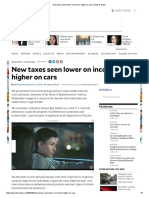 New Taxes Seen Lower on Income, Higher on Cars Inquirer News[1]