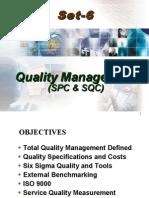 SET 6 Quality Management SPC SQC