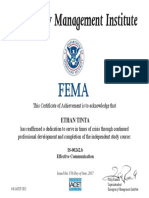 FEMA - Effective Communications Certificate