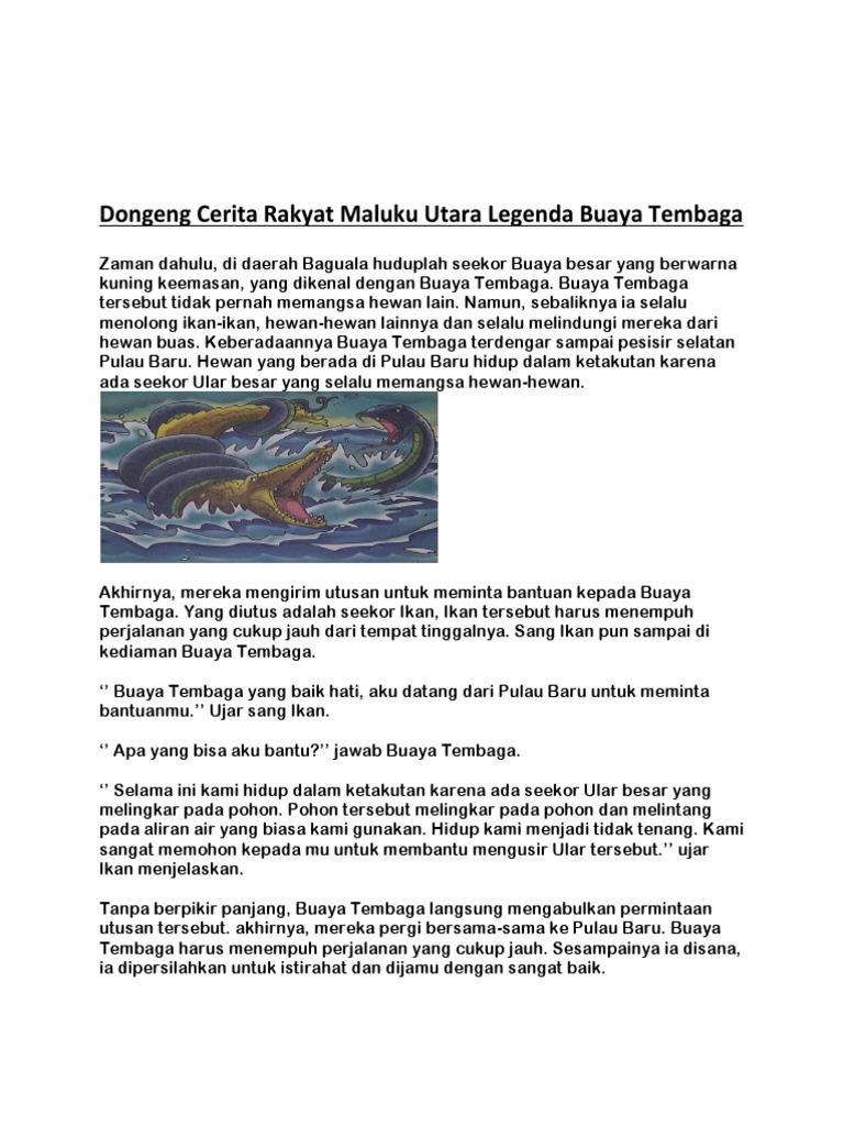 Dongeng Cerita Rakyat Maluku Utara Legenda Buaya Tembaga
