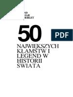Gutberlet 50 największych kłamstw i legend w historii świata ok