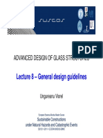 Advanced Design of Glass Structures - Lecture 8 - General Design Guidelines