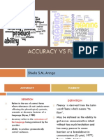 Accuracy vs Fluency