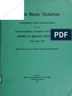 Braille Music 1929
