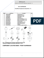 2012 SUSPENSION Front and Rear Suspension (Inspection) - TL
