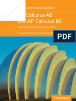 AP Calculus Ab and Bc Course and Exam Description