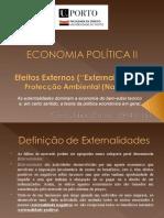 Efeitos Externos - Externalidades - Protecção ambiental (nacional)