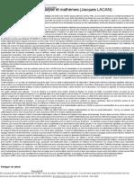 Mathématiques, psychanalyse et mathèmes (Jacques LACAN) - LE CONFLIT.pdf
