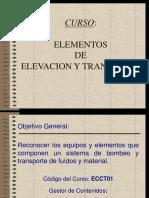 Elementos Elevacion y Transporte Unidad II