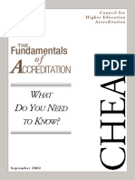 The Fundamentals of Accreditation