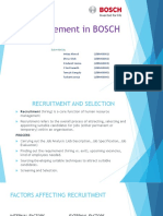 HR Management in BOSCH