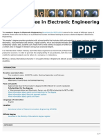 Master's Degree in Electronic Engineering (MEE) (ETSETB)