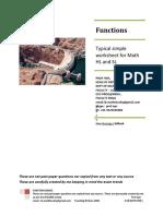 Functions Basics Drill Worksheet