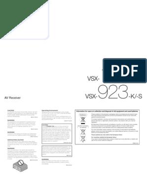 tania wyprzedaż usa wyprzedaż hurtowa moda designerska VSX-923-K_manual_ENpdf.pdf | Hdmi | I Pod