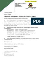 Surat Panggilan Sukan Tahunan