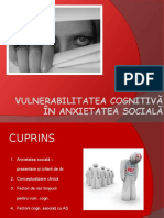 Vulnerabilitatea Cognitiva in Anxietatea Sociala (2)
