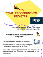 Wuilber j. Alca Robles - Procedimiento Registral