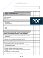 Pre Construction Checklist