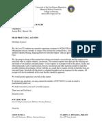 Funding Letter