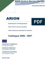 Catalogul Vizitelor de Studiu 2006-2007