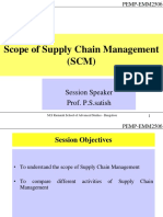 Session 4 - Scope of SCM