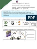 Evaluacion Ciencias Naturales Electricidad.