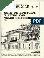 Guía de Edificios y Sitios Con Valor Histórico [Ayuntamiento de Mexicali]