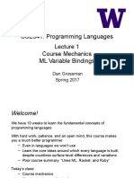 CSE Programming Languages Lecture 1