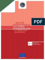 Boletín Jurisprudencial de la Corte Interamericana de Derechos Humanos N° 4 - septiembre a diciembre de 2015