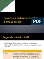 La Música Instrumental Barroco Tardío