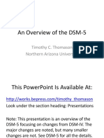 Overview of the DSM 5