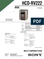 Sony Hcd Rv222 Ver 1.1