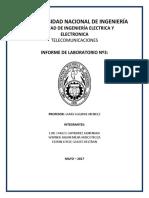 INFORME DEL LABORATORIO DE QUIMICA UNI 2017