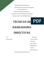 Tecnicas de Habilidades Directivas (Autoguardado)