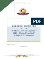 raport per fundvitin shkollor 2016-2017