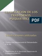 Clasificaciones en Psiquiatría 1