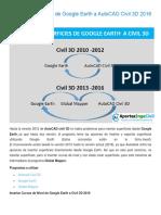 Insertar Superficies de Google Earth a AutoCAD Civil 3D 2016