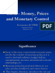 Ch12 - Money Prices Monetary Control