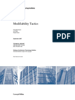 Modifiability Tactics and Patterns