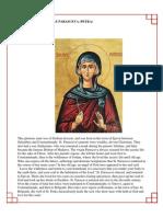 31 - The Venerable Parasceva (Petka)